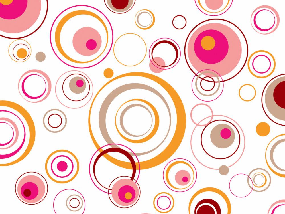 Retro circles ppt templates