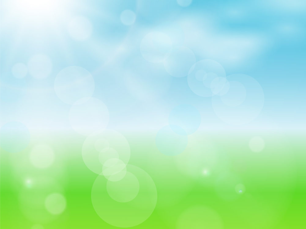 Spring Sun Powerpoint Design Backgrounds - Blue, Colors, Design