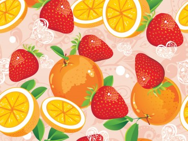 Strawberry and Orange Pattern PPT