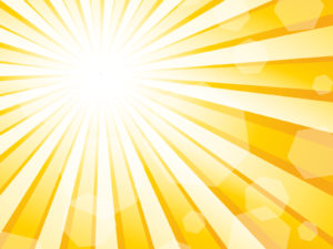 Sun Burst Effect Powerpoint Template