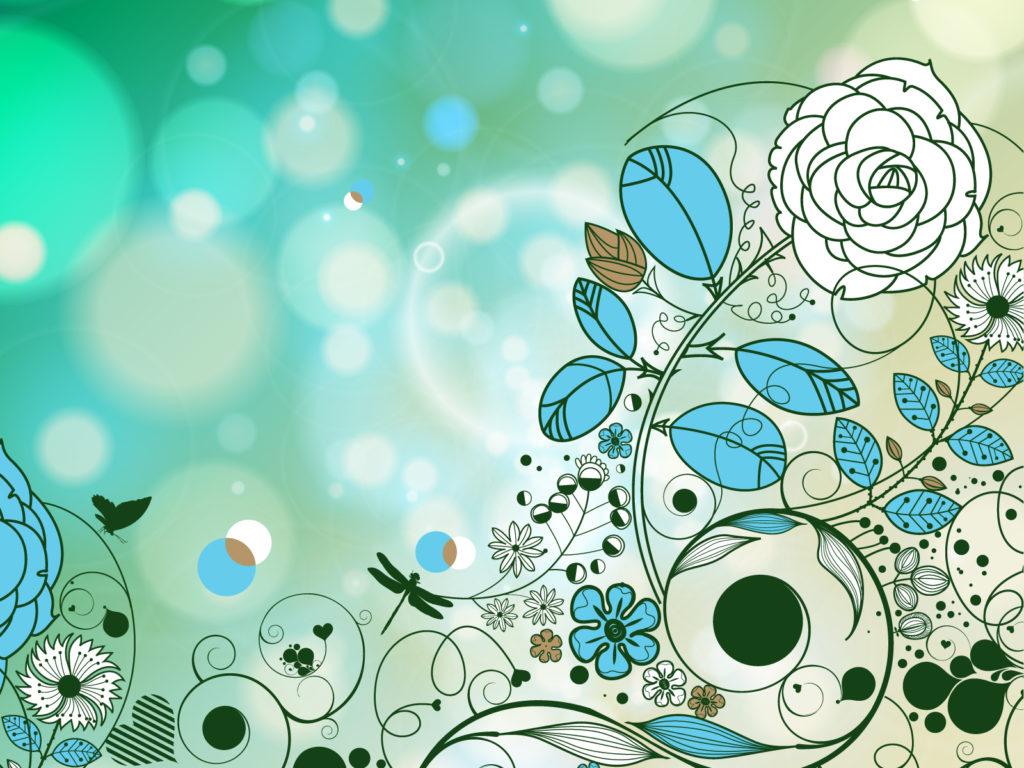 Vintage Style Flowers Backgrounds Beige Black Blue Border