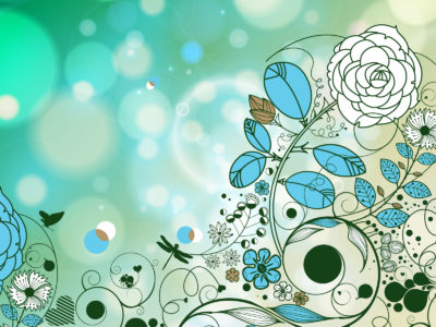 Vintage Style Flowers Backgrounds