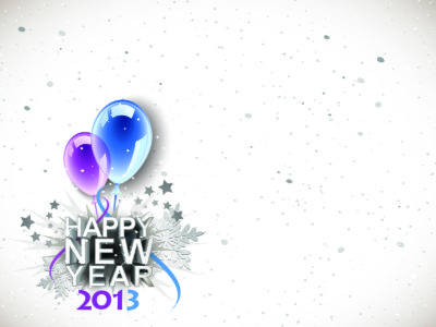 2013 Happy New Year PPT Backgrounds