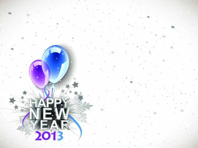 2013 Happy New Years PPT Backgrounds