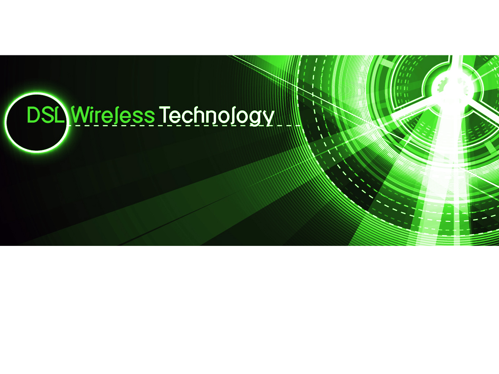ADSL Internet Wireless Technology PPT Template