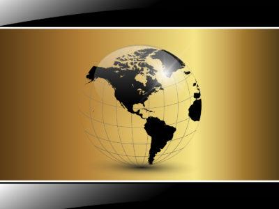 Black Golden World for Business Background