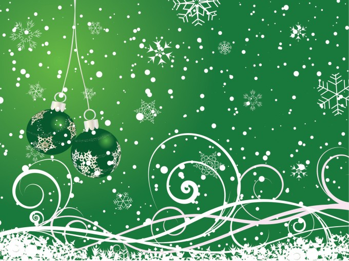Floral Green Happy New Year for 2013 PPT Backgrounds
