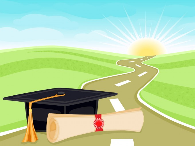 Graduation and Life PPT PPT Backgrounds