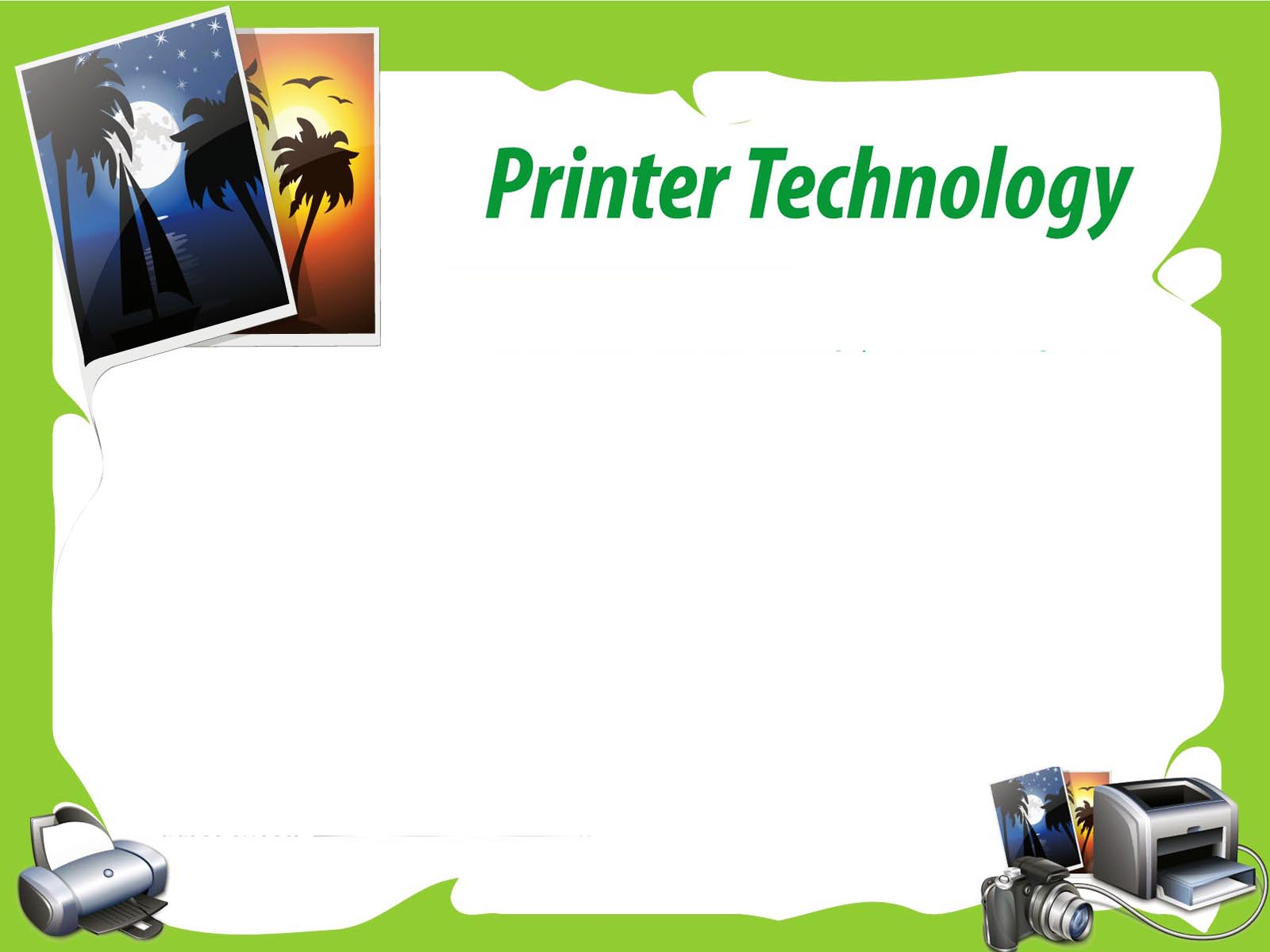 Printer Technology PPT Backgrounds