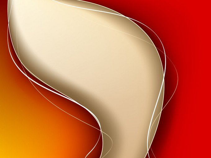 Red Abstract Wave PPT Backgrounds