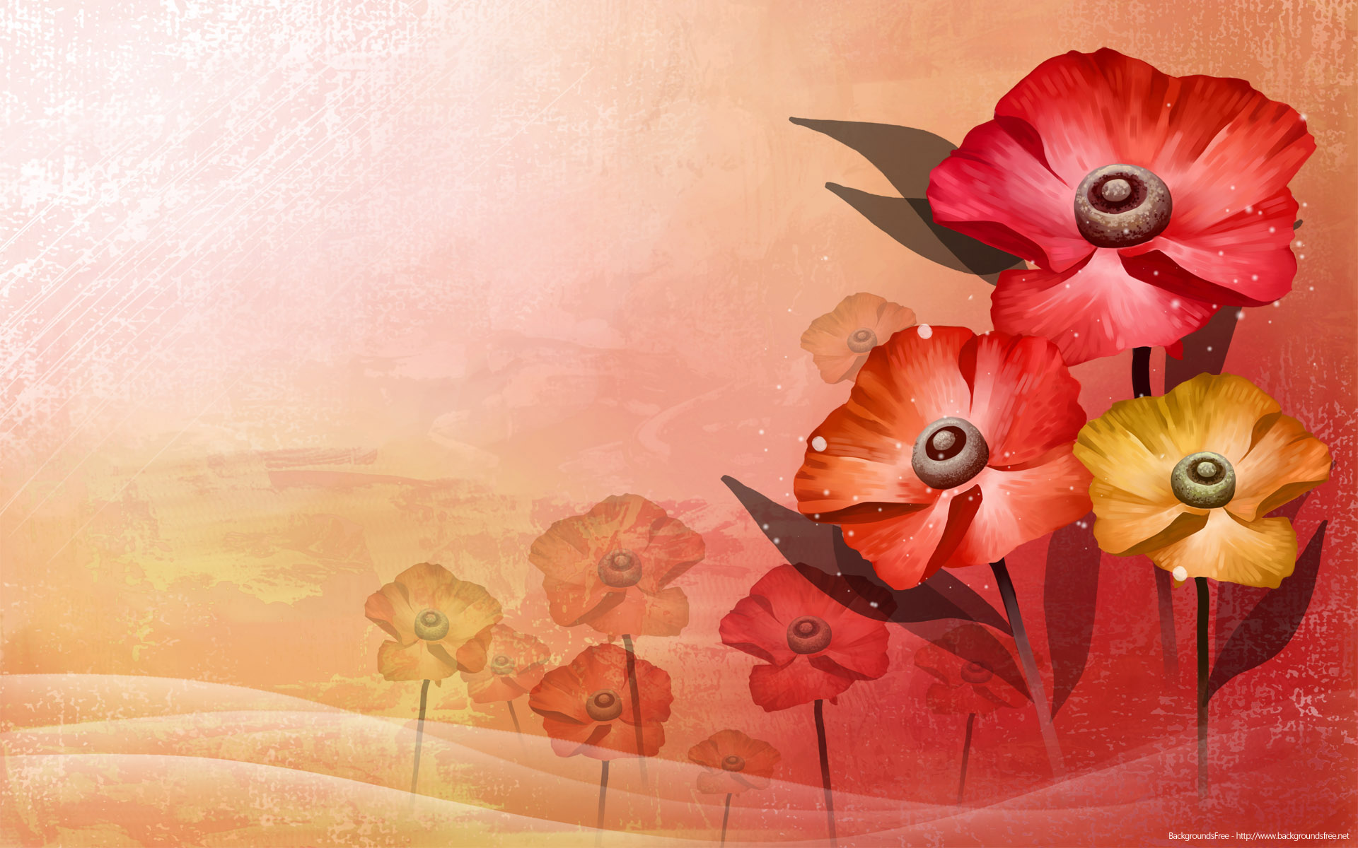 Red Flower Vector Backgrounds