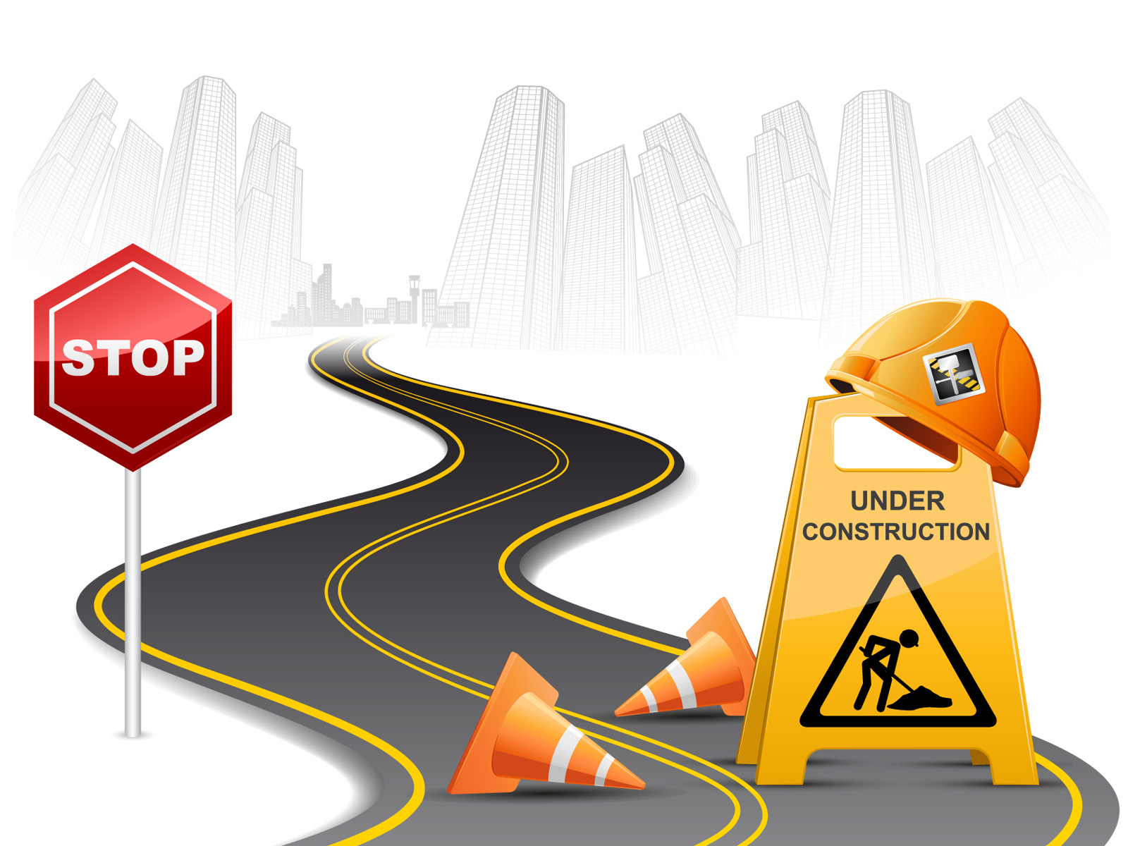 Road Maintenance Work PPT Templates