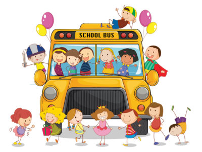 School Bus PPT Background