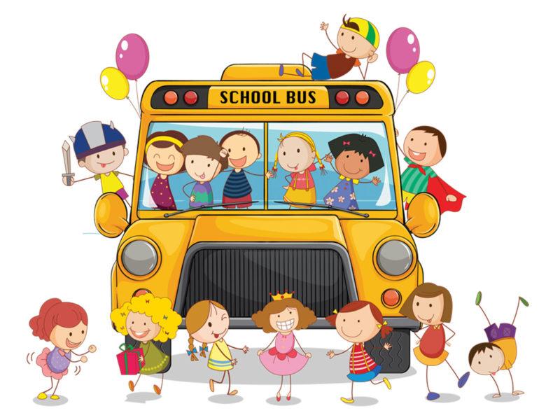School Bus PPT Background
