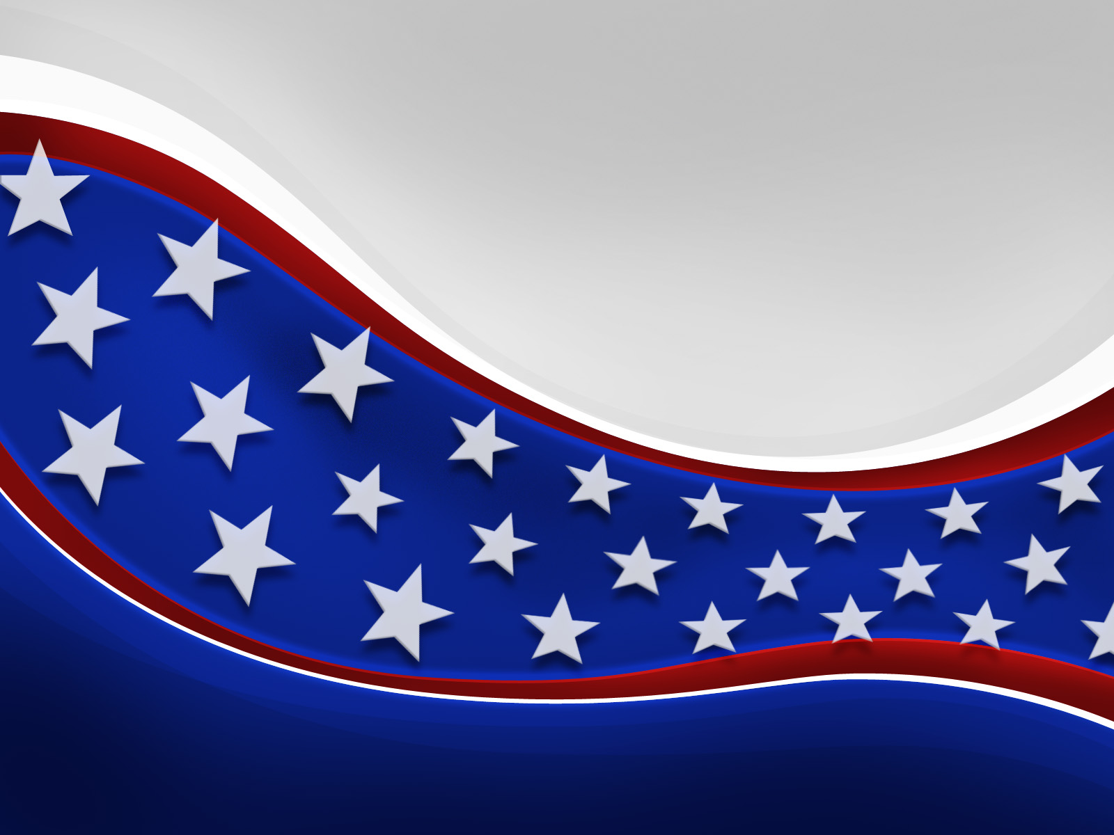United States of America Flag PPT Template