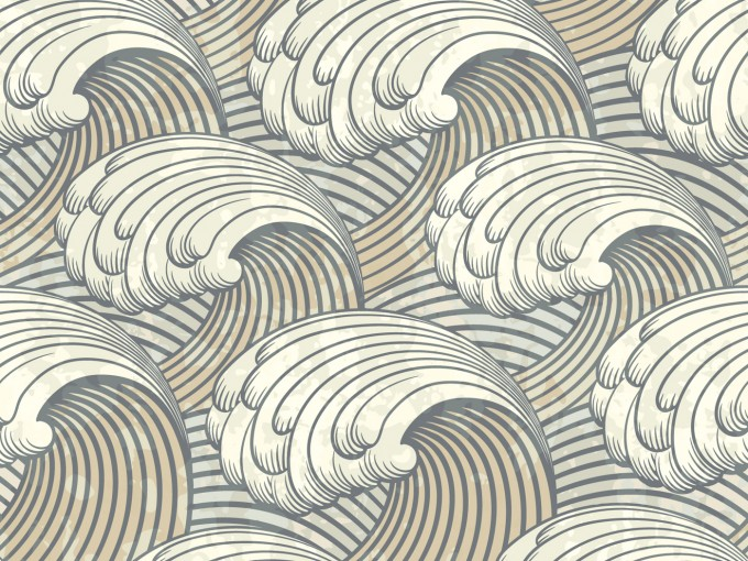 Waves Pattern PPT PPT Backgrounds