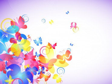 Abstract Colorful Butterflies Powerpoint