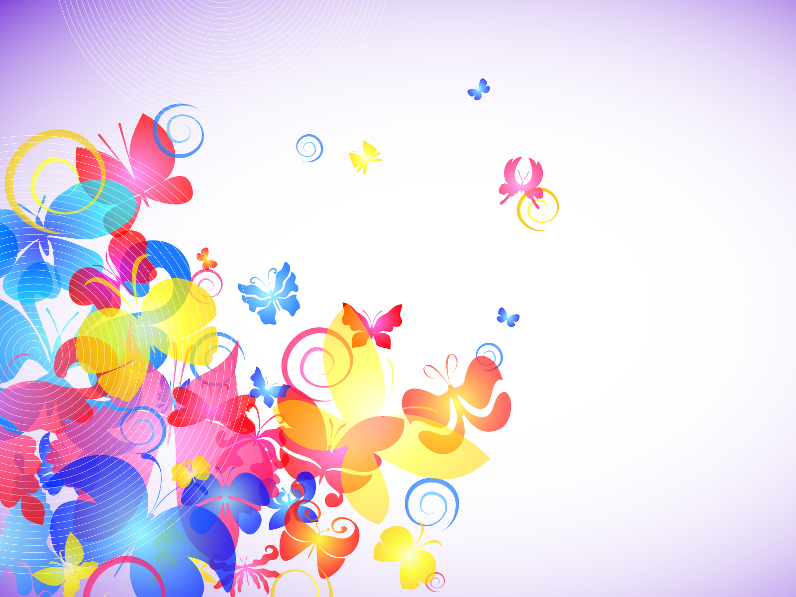 abstract colorful butterflies powerpoint backgrounds