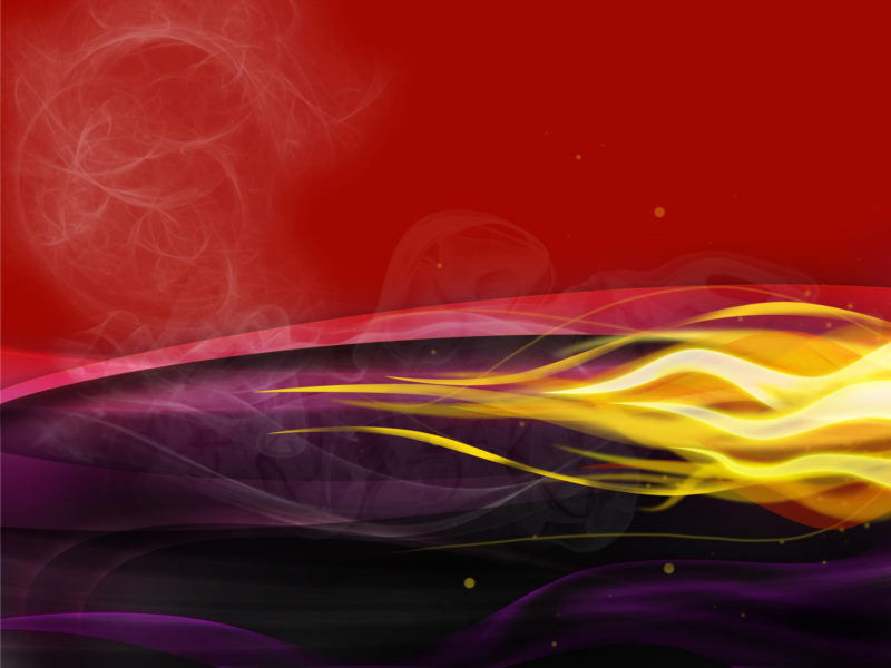 Abstract Fire Smoking Flames PPT Templates