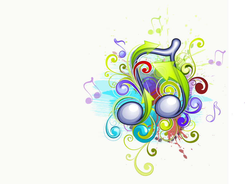 Abstract Musical Backgrounds Free