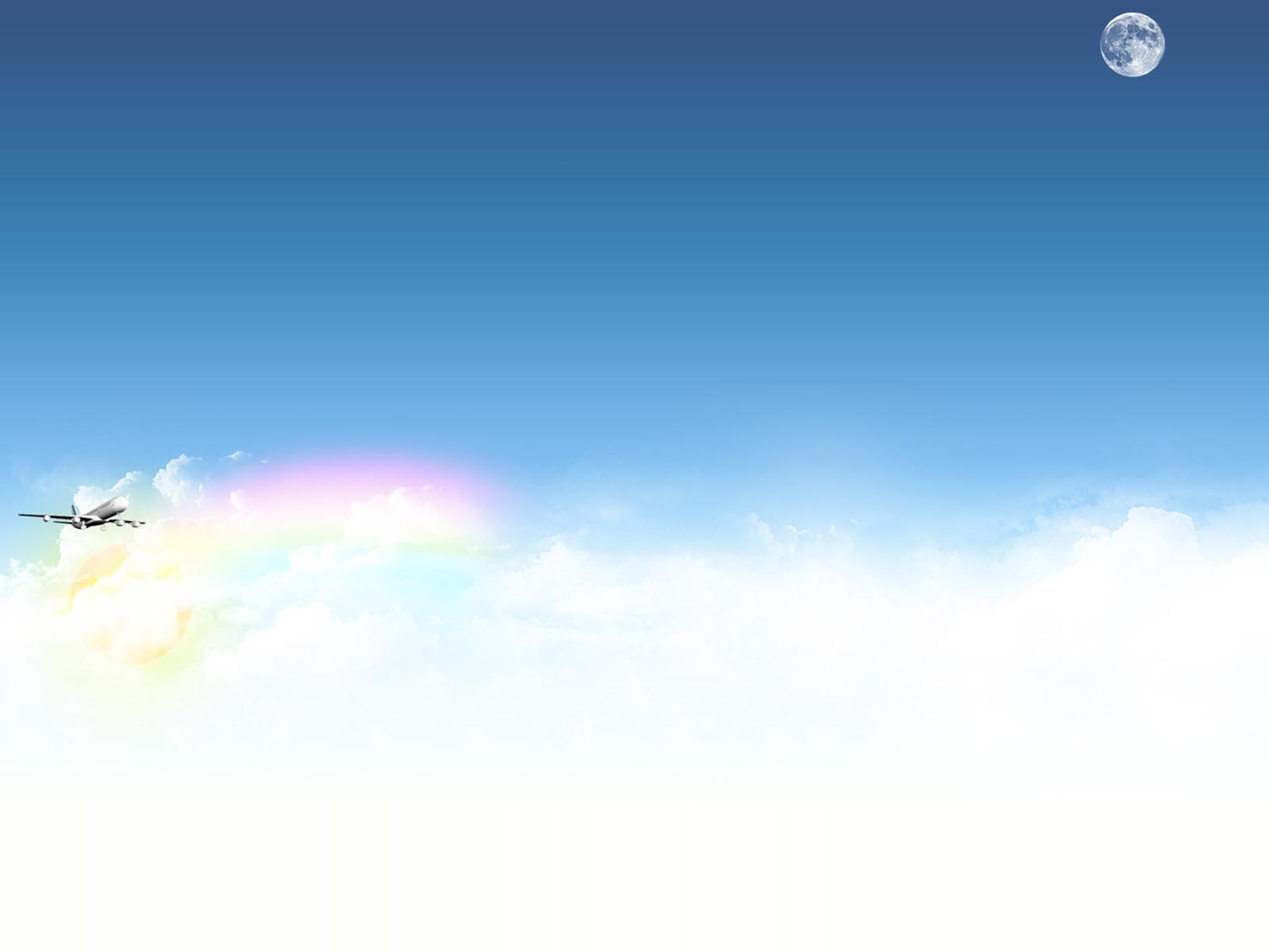 Airplane With Sky And Clouds Backgrounds Blue Nature