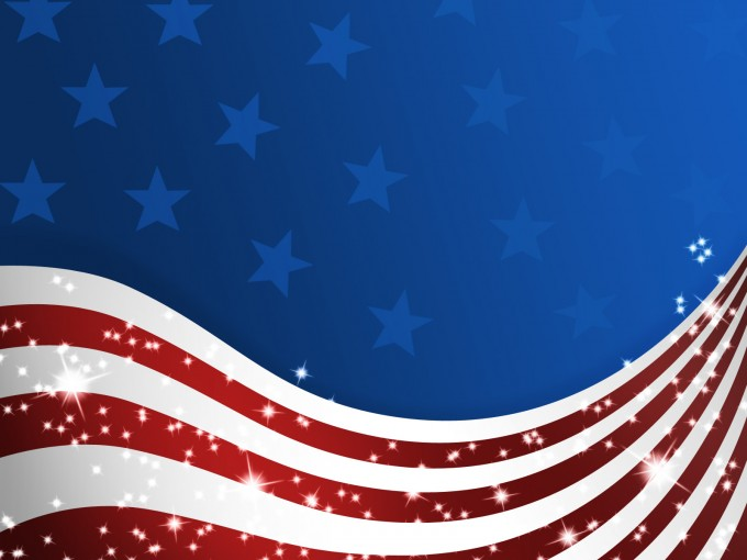 American Patriotic Flag PPT PPT Backgrounds