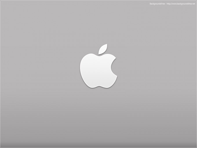 Apple Desktop Logo PPT Template PPT Backgrounds