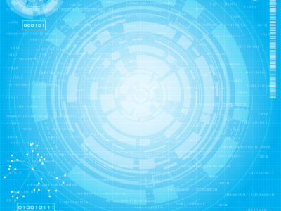 Blue Tech Circles Powerpoint Technology Backgrounds