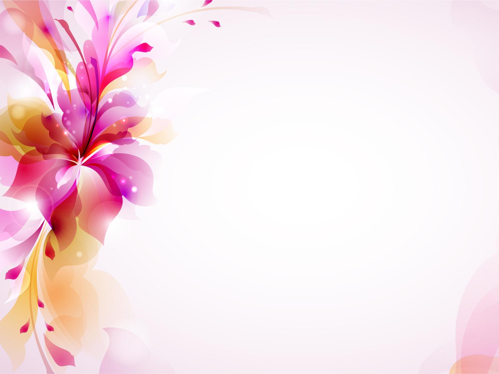 Colorful Design Floral Backgrounds Flowers Orange Purple