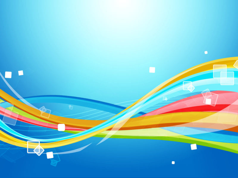 Colourful Waves Abstract with Cubes PPT Backgrounds
