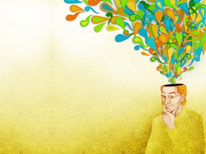 Creativity Flow People Education Design PPT Backgrounds