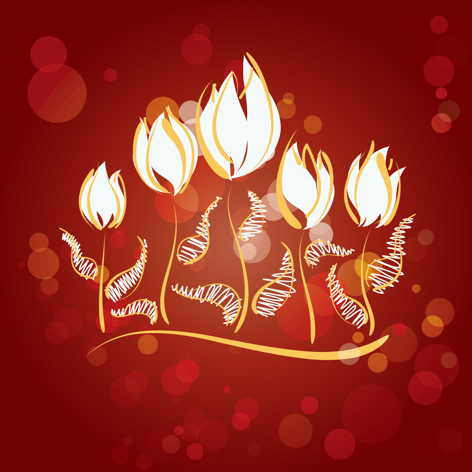 Fire Flowers Design PPT Templates