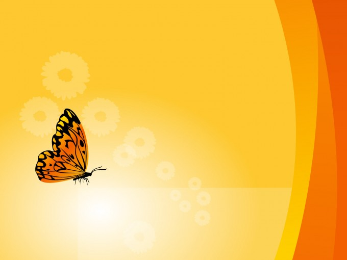 Floral Background With Butterfly PPT Backgrounds