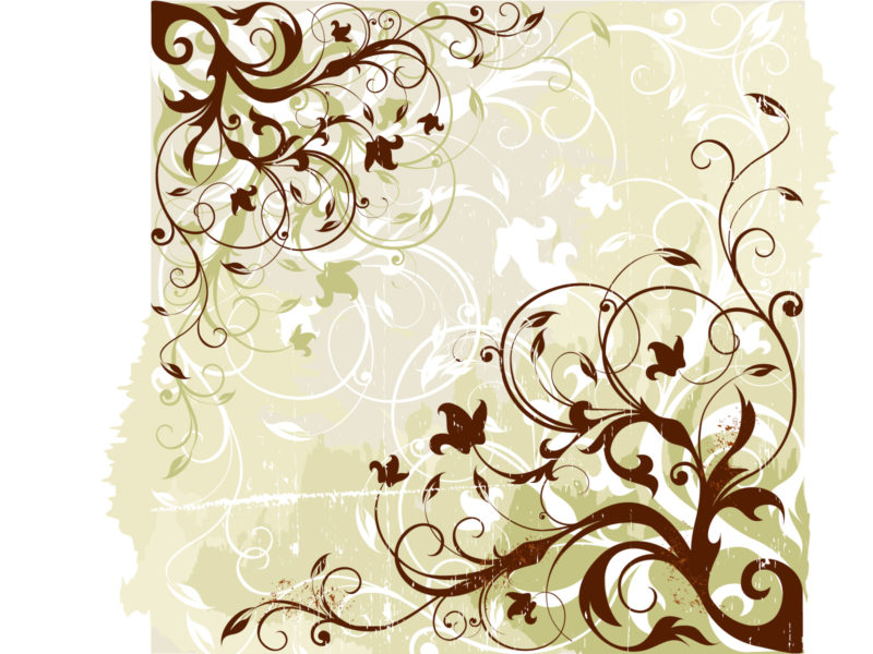 Floral Graphic Background Vector PPT Backgrounds