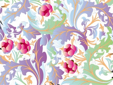 Flower Pattern PPT Background Vector Graphic