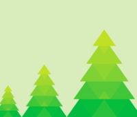 Green Christmas Tree PPT Backgrounds