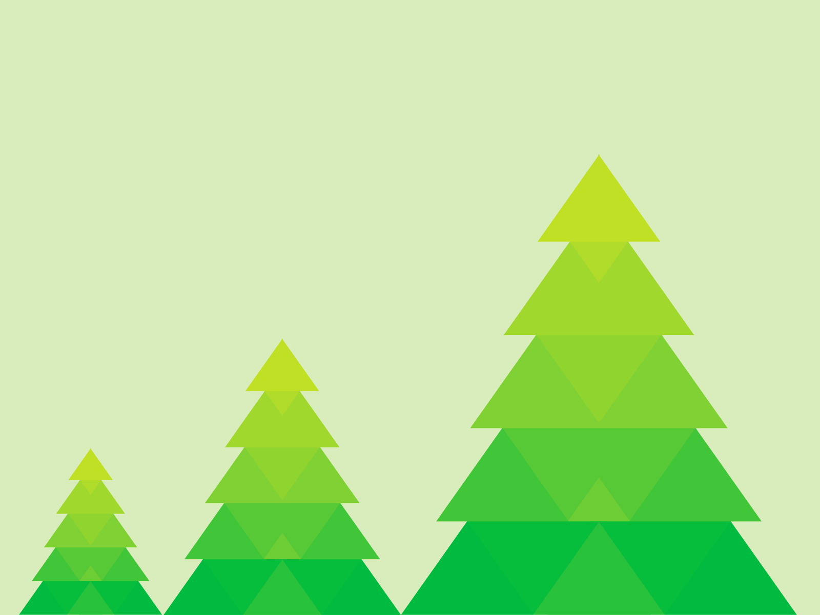 green christmas powerpoint templates .