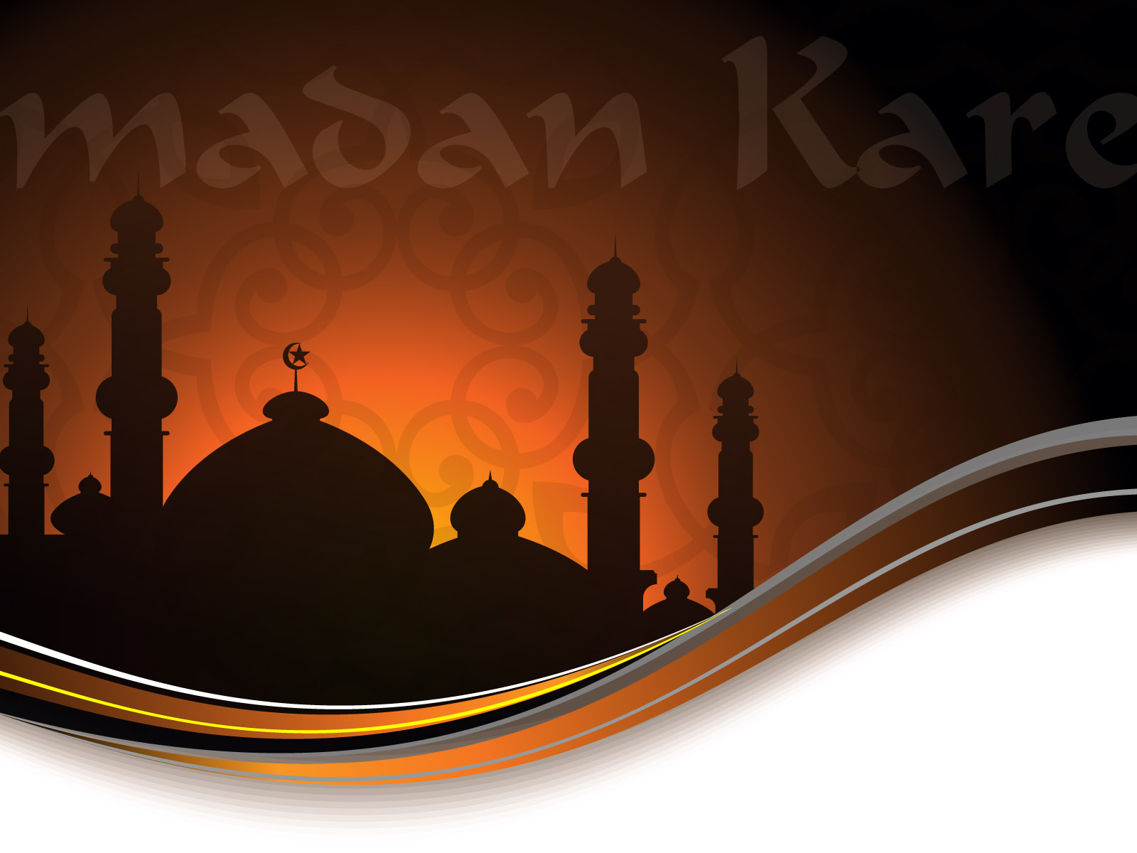 Islamic Ramadan Kareem Slide For Muslims Backgrounds Black Brown