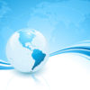 Light Blue Planet Powerpoint Backgrounds