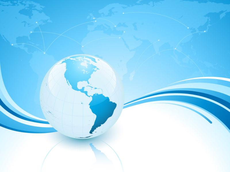 Light Blue Planet Powerpoint Backgrounds