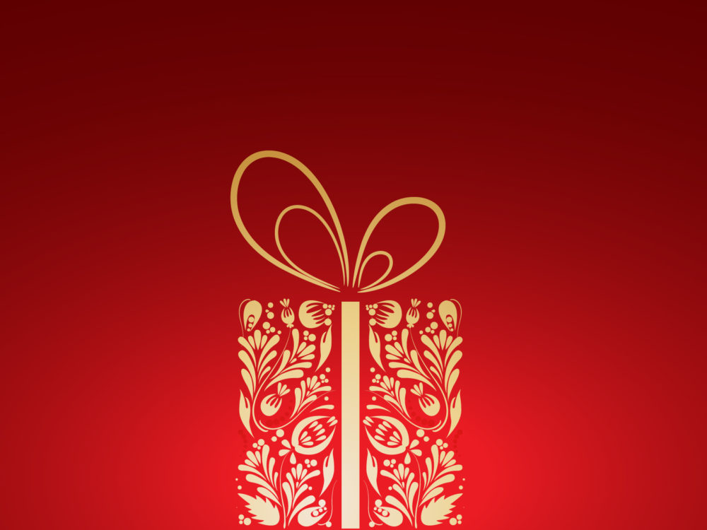 christmas gift powerpoint background