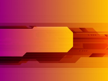 Orange abstract technology ppt template