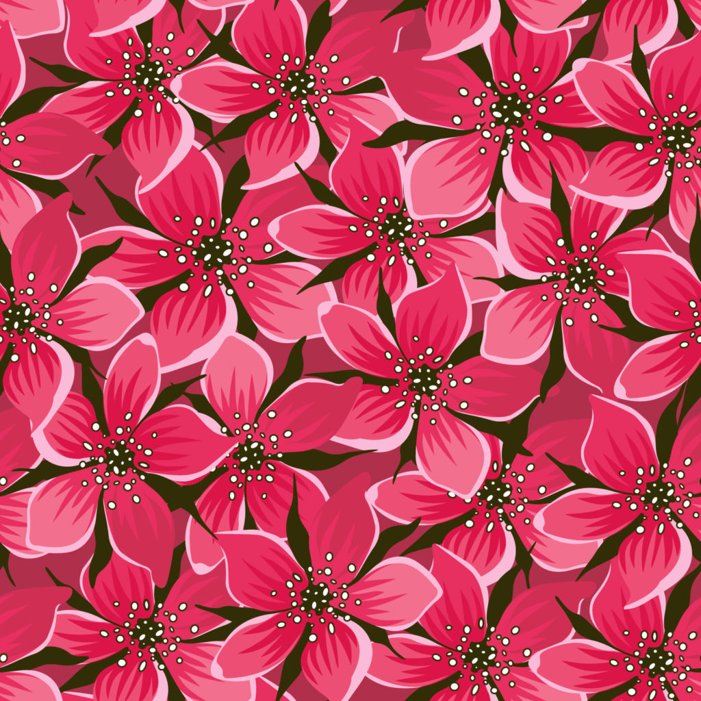 red seamless floral design backgrounds design flowers