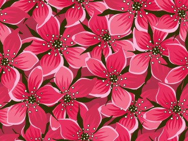 Red Seamless Floral Design