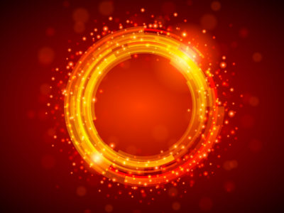 Red Shiny Circle Powerpoint Backgrounds