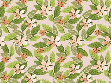 Seamless Floral with Leaves PPT