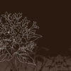 Simple Tree on Brown Powerpoint Background