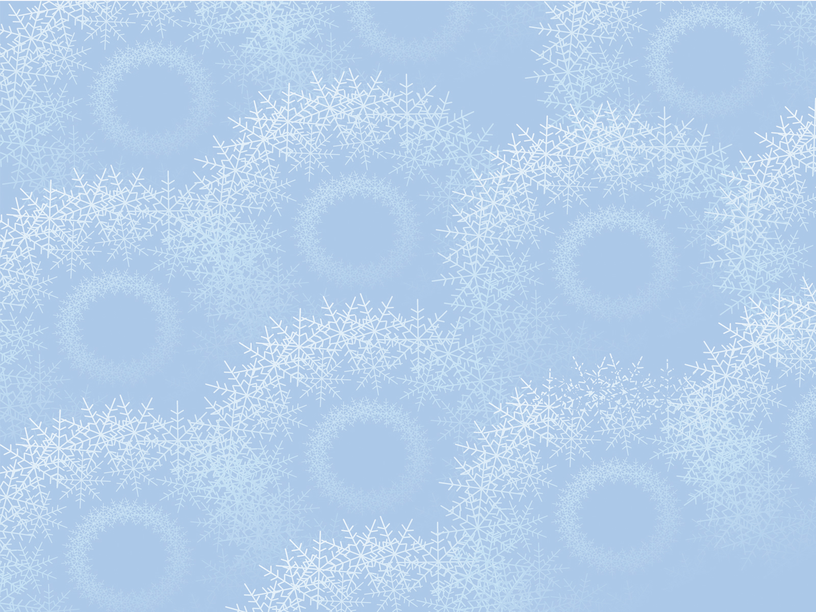 Snowflakes on light blue powerpoint backgrounds