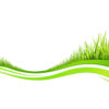 Spring fresh plant grasses ppt templates