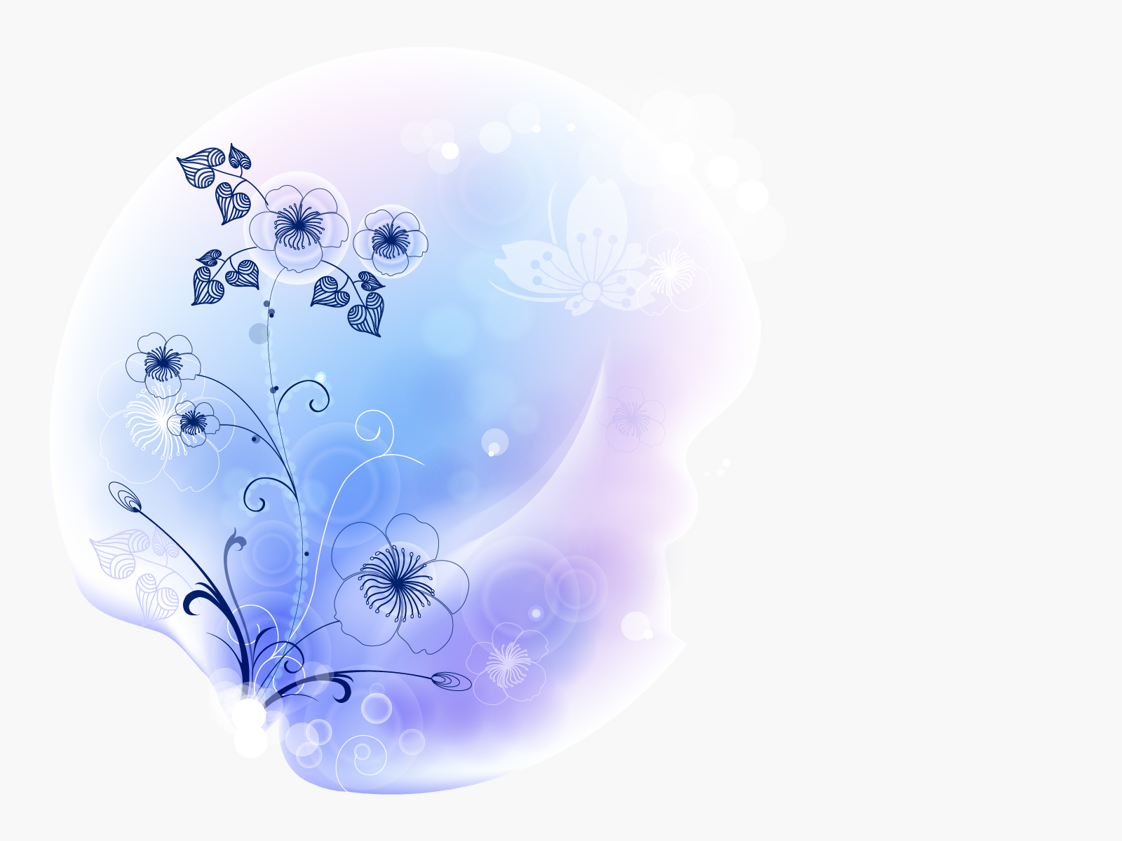 vector flower style design backgrounds blue flowers